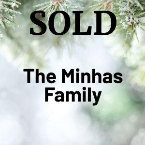 2021 Volunteer Sponsor The Minhas Family